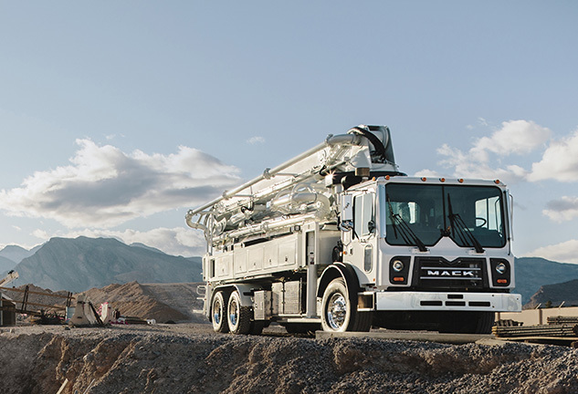 Mack® mDRIVE™ HD Now Available in Mack TerraPro® Concrete Pumpers Powered by the Mack MP®8 Engine