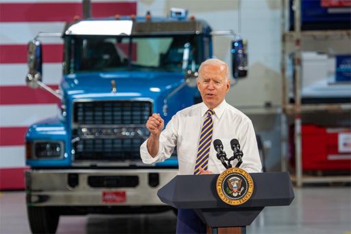 President Joe Biden Visits Mack Trucks Lehigh Valley Operations